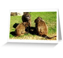 Playtime in the garden Greeting Card