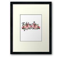 flower feminist Framed Print