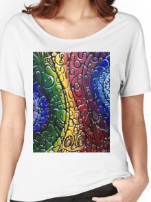 Psychedelic textured Hippy Women's Relaxed Fit T-Shirt