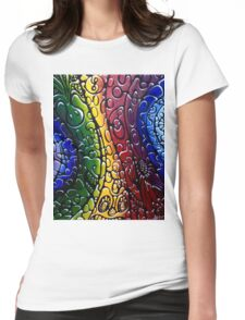 Psychedelic textured Hippy Womens Fitted T-Shirt