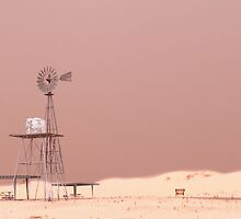 Monahans White Sand Hills ~ The Windmill by Carla Jensen