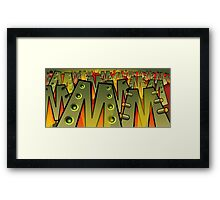 Fighting M Framed Print