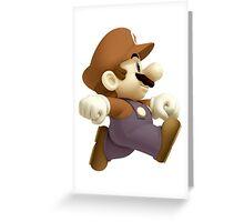 Sepia Mario Greeting Card