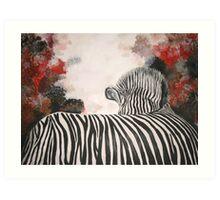 Polly's Zebra  Art Print