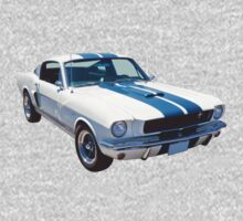1965 GT350 Mustang Muscle Car One Piece - Short Sleeve