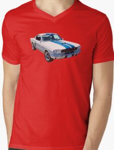 1965 GT350 Mustang Muscle Car Mens V-Neck T-Shirt