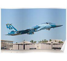 WA AF 80-0018 F-15C Eagle Taking Off Poster