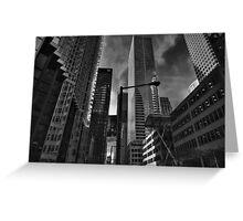 Downtown Toronto 004 BW Greeting Card