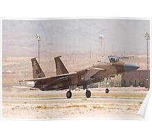 WA AF 80-0024 F-15C Eagle Landing Poster