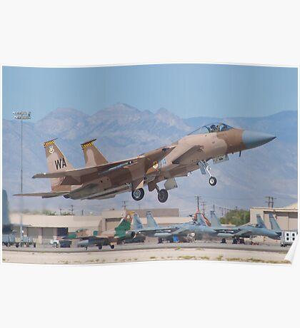 F-15C Eagle #WA AF 80-0024 Lifting Off Poster