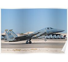 F-15C Eagle #WA AF 83-0019 Landing Poster