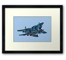 Head On WA AF 78-0485 F-15C Eagle Framed Print