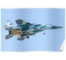 WA AF 78-0470 F-15C Eagle On Approach Poster