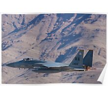 WA AF 78-0484 F-15C Eagle Takes Off Low Poster