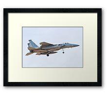ZZ AF 81 0042, F-15C Eagle On Approach Framed Print