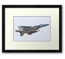 ZZ AF 85 0121, 18th WG, F-15C Eagle On Approach Framed Print