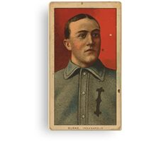 Benjamin K Edwards Collection Jimmy Burke Indianapolis Team baseball card portrait Canvas Print