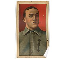 Benjamin K Edwards Collection Jimmy Burke Indianapolis Team baseball card portrait Poster