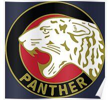 Panther Motorcycle Logo Poster