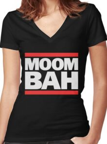 Moombah DMC - Black Women's Fitted V-Neck T-Shirt