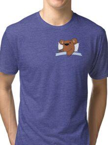 pocket bed Tri-blend T-Shirt