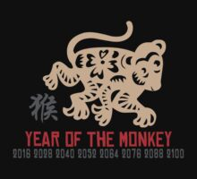 Born 2016 Year Of The Monkey One Piece - Long Sleeve