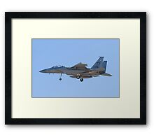 Side Shot of F-15D Eagle #TY AF 80 0056 on Approach Framed Print