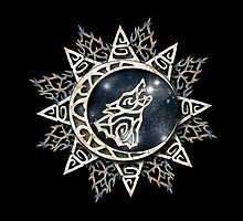 Wolf Emblem by Kristin J Reyes