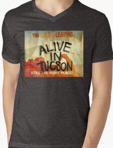 Alive In Tuscon UTAH Last Man On Earth  Mens V-Neck T-Shirt