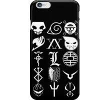 Anime Logos White iPhone Case/Skin