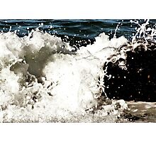 White Wash Splash Photographic Print