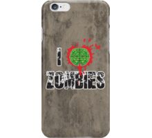 I (Headshot) Zombies iPhone Case/Skin