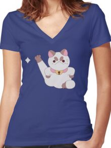 PuppyCat - Bee and PuppyCat Women's Fitted V-Neck T-Shirt