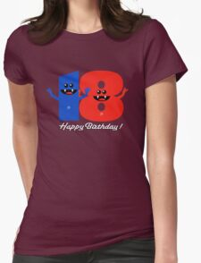 HAPPY BIRTHDAY 18 Womens Fitted T-Shirt