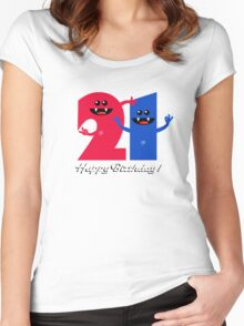 HAPPY BIRTHDAY 21 Women's Fitted Scoop T-Shirt