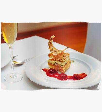 Dessert in restaurant Poster