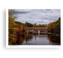 Saco River Autumn Canvas Print