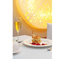 Dessert in restaurant Photographic Print