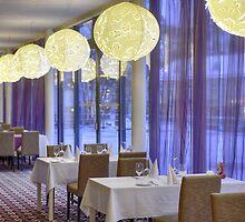 Restaurant in hotel by fotorobs
