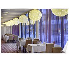 Restaurant in hotel Poster
