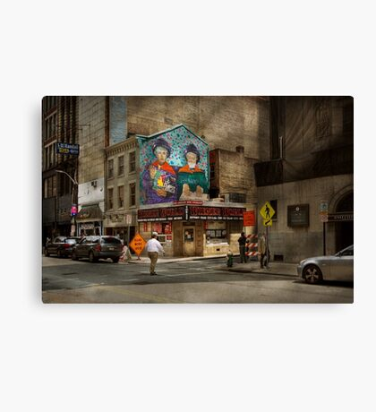 City - Pittsburg, PA - Wiener World Canvas Print