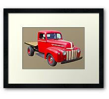 1947 Ford Flat Bed Antique Pickup Truck Framed Print