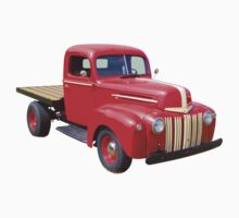 1947 Ford Flat Bed Antique Pickup Truck Kids Tee