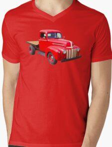 1947 Ford Flat Bed Antique Pickup Truck Mens V-Neck T-Shirt