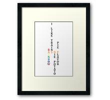 ASDF - Light Framed Print
