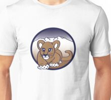 Little Puma Stalking From the Mountains. Unisex T-Shirt