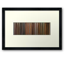Moviebarcode: The Complete Wes Anderson (1994-2009) Framed Print