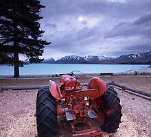 Tractor at Tekapo by Matthew Larsen