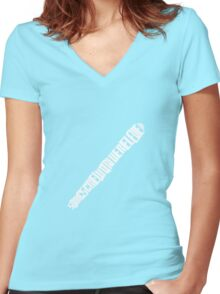 Sonic Textdriver Women's Fitted V-Neck T-Shirt