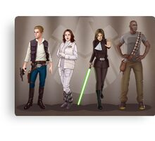 A Galaxy Far Away - Agents Combined Canvas Print